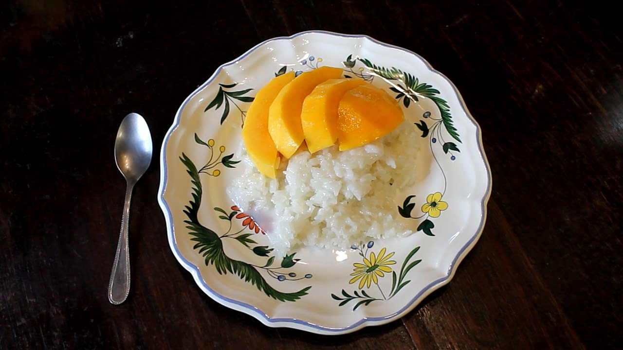 Sticky Rice With Mango And Coconut Milk Thai Recipe Cooking With Morgane Youtube