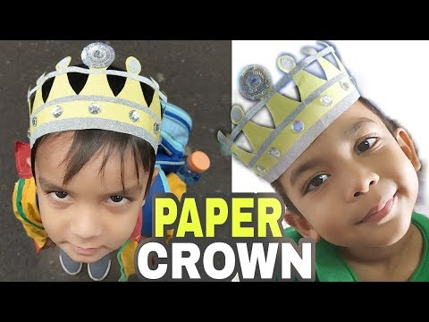 How to make a paper crown| DIY| Easy Crown tutorial