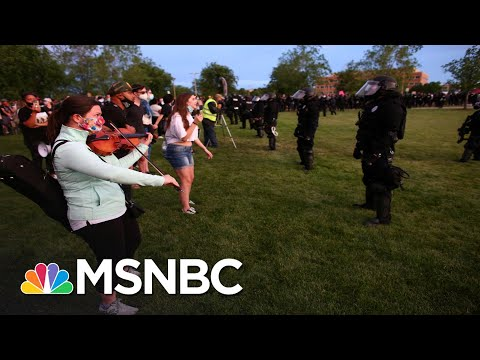 Riot Police Confront Peaceful Violin Vigil For Elijah McClain With Pepper Spray | All In | MSNBC