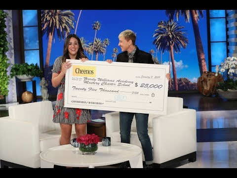 Ellen & Cheerios: Generation Good Shares Inspirational Story of Special Education Teacher!