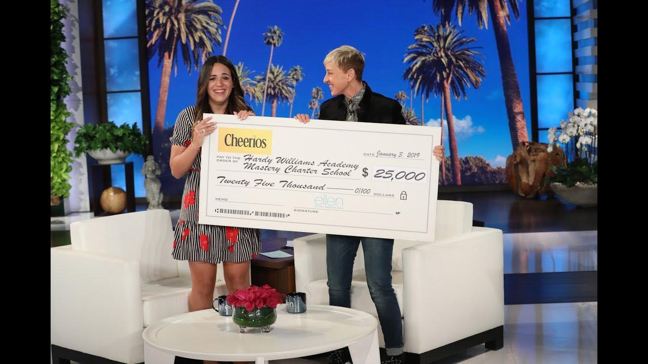 Ellen & Cheerios: Generation Good Shares Inspirational Story of Special Education Teacher!