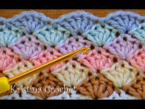 Easy Crochet Shell Stitch Tutorial (English)