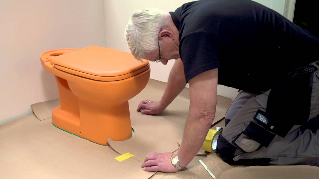 How to install laminate around a toilet and other round