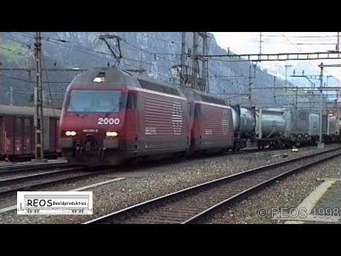 030 Erstfeld Station Bahnhof- Gotthard Line - Best Classic Shunting of helpers in Erstfeld on YT -