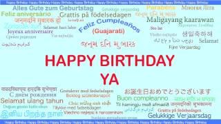 Ya   Languages Idiomas - Happy Birthday