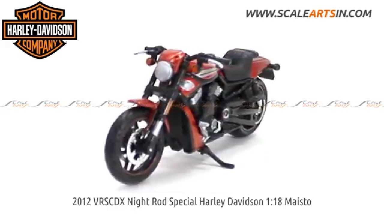 Harley Davidson 2012 VRSCDX Night Rod Special Black Model Scale 1:18 Maisto