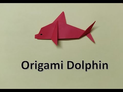 DIY : Easy Origami | Make a Paper Dolphin Step by Step | Paper Folding #tuesdaycraft