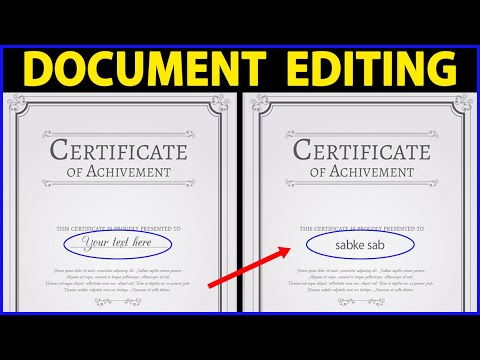 How To Edit Or Change Any Document Content In Photoshop In Hindi
