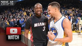 Stephen Curry vs Dwyane Wade DUEL Highlights (2016.01.11) Warriors vs Heat - SICK!