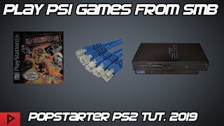 Play PS1 Games From PS2 SMB Using Popstarter and OPL Tutorial (2019)