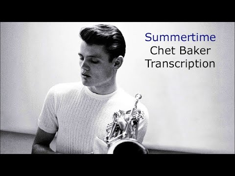 Summertime [live] - Chet Baker's (Bb) Solo. George Gershwim.Transcribed by Carles Margarit
