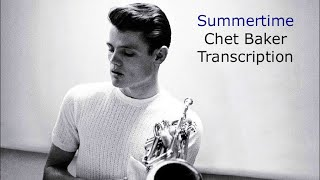 Summertime [live] - Chet Baker Solo. George Gershwim.Transcribed by Carles Margarit