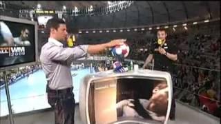 Ballwürfe mit Trimona Handballwax