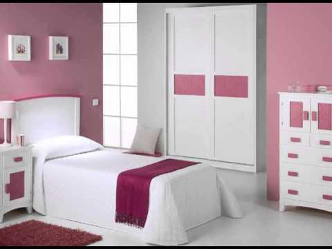 dormitorios juveniles en colores rosas y madera