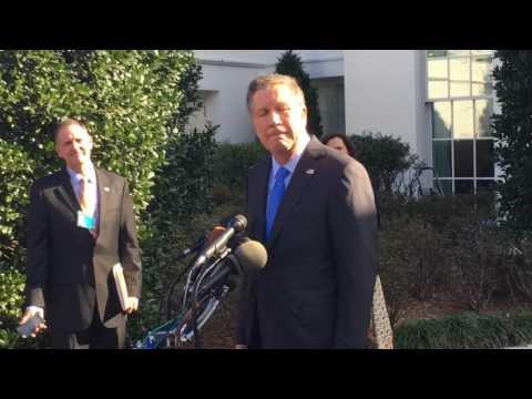 Ohio Gov. John Kasich at the White House