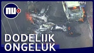 Personenvliegtuigje stort neer op auto's in Brazilië: drie doden