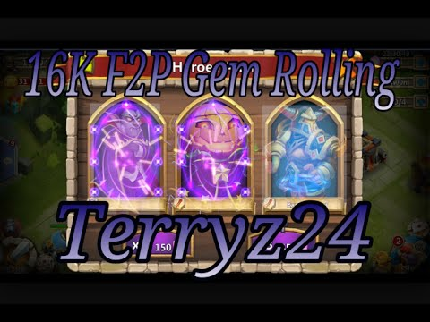 16K F2P Gem Rolling Castle Clash IGG