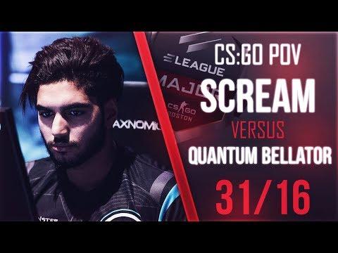 POV ScreaM vs Quantum Bellator Fire | 31/16 @ ELEAGUE Major 2018 ★ CS:GO