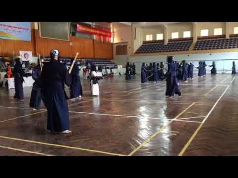 5Th Hanoi Open Kendo Championships -October 2017- warming up 4