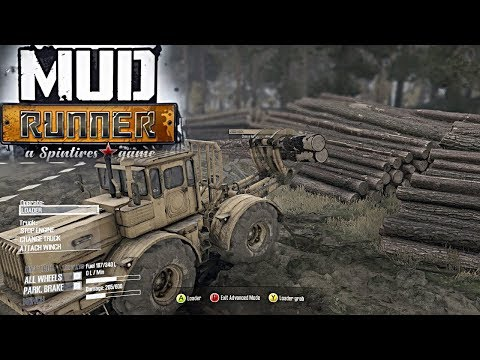 Spin Tires MudRunner: PC Let's Play, Part 3! LUMBER DELIVERY AND NEW TRACTOR!! + Skidder Gameplay