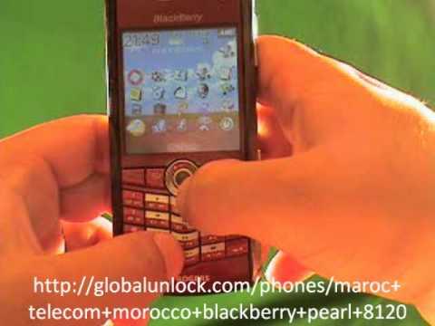 Unlock Maroc Telecom Morocco Blackberry Pearl 8120