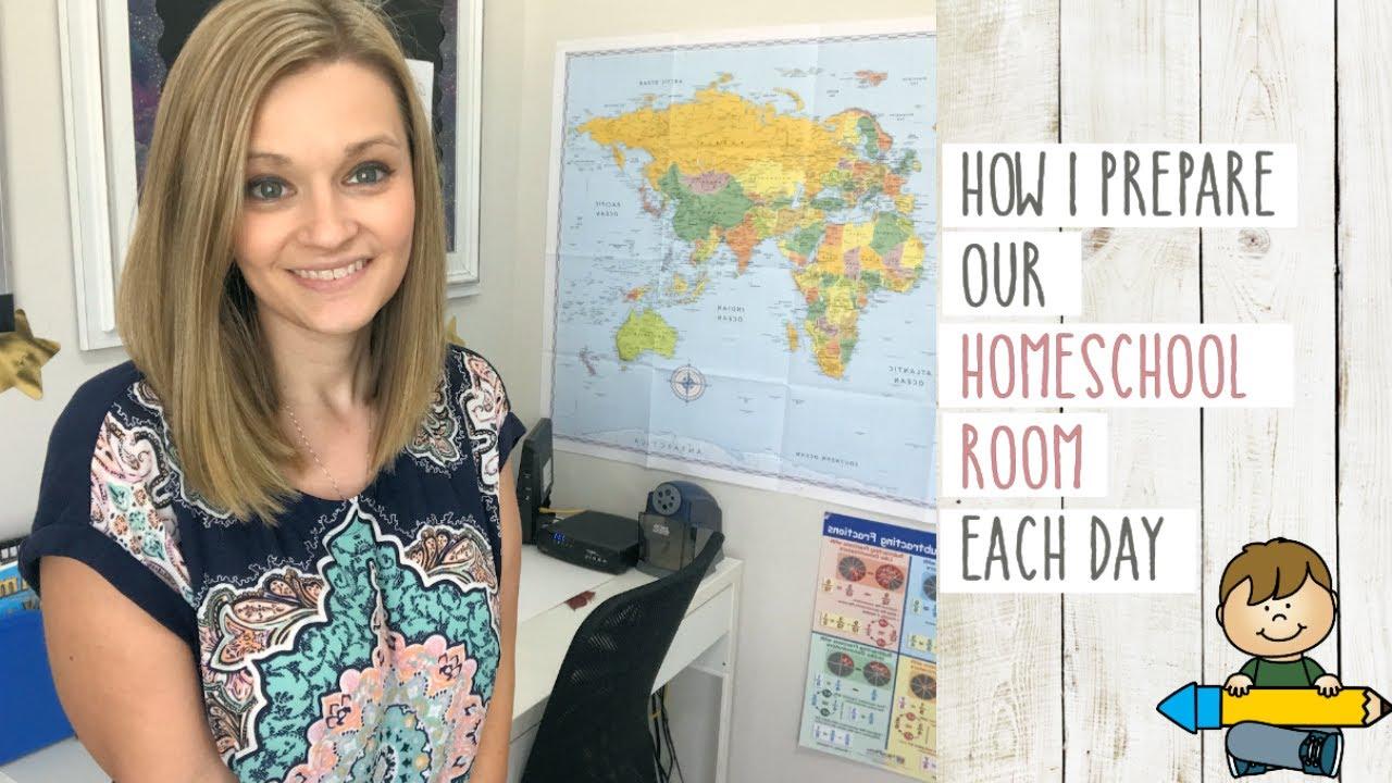 Making Homeschool Easy | My Homeschool Room Daily Prep and Clean Up Plan