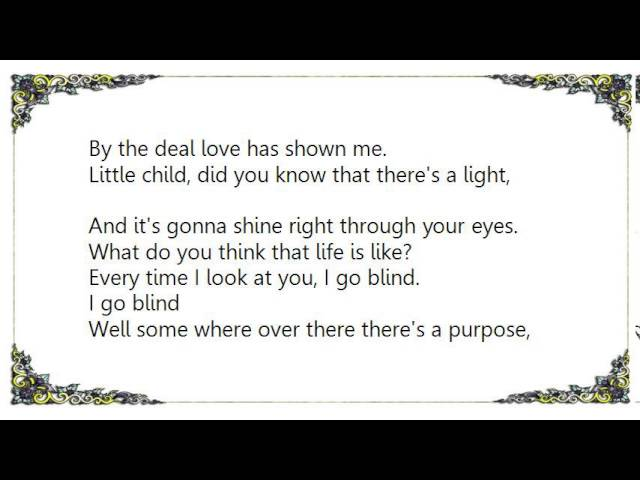 Hootie The Blowfish I Go Blind Lyrics Chords Chordify