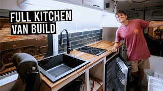 VAN BUILD: Building Our Kitchen For Our Off-Grid Tiny House