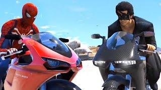 SpiderMan vs Krrish | Car Race, Bike Race, Swimming | ARM Wrestling | GTA V