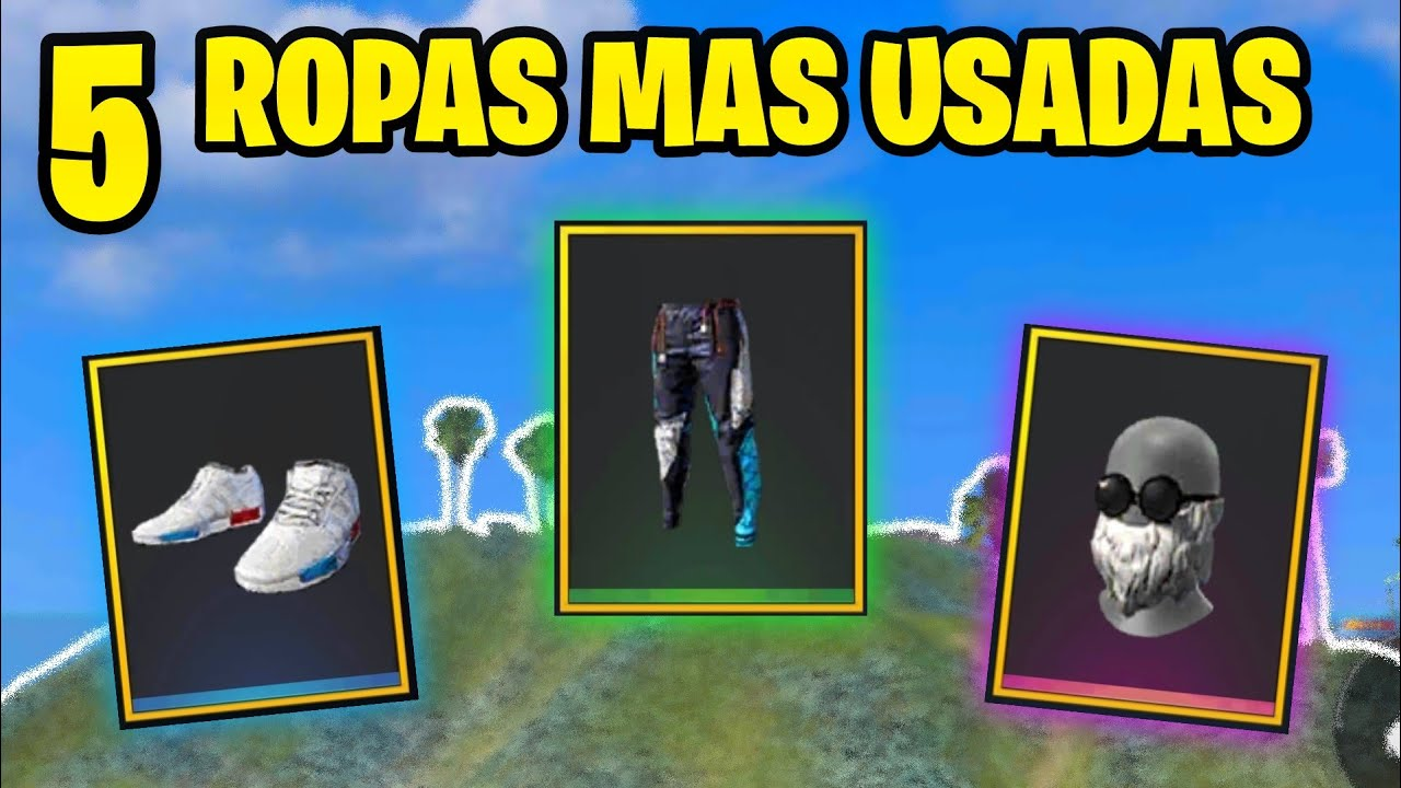 "TOP 5 ""LA ROPA MAS USADA DE FREE FIRE"""