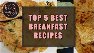 5 Breakfast Recipes | Breakfast Ideas with Eggs | Egg and Bread Recipes