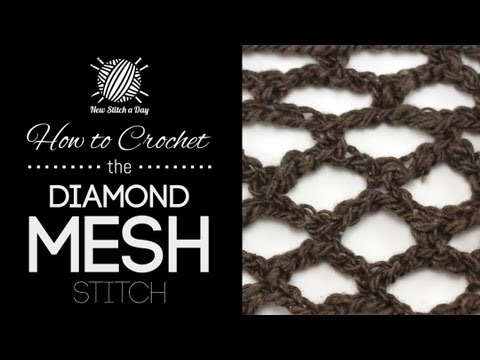 How To Crochet The Diamond Mesh Stitch Youtube