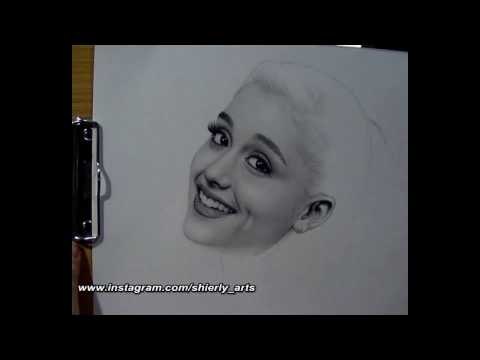 Realism Portrait Drawing of Ariana Grande