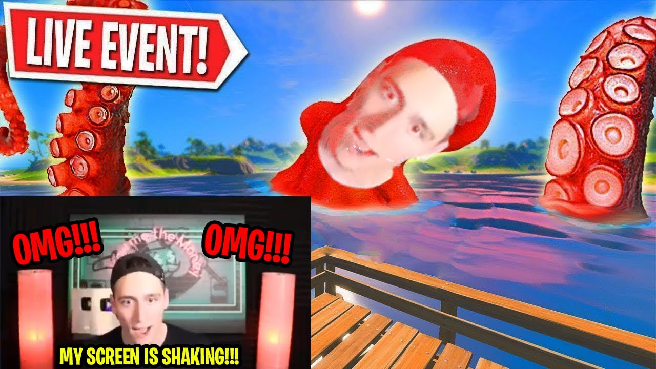 Streamers Scamming Kids For Views With Fake Kraken Event In Fortnite Youtube