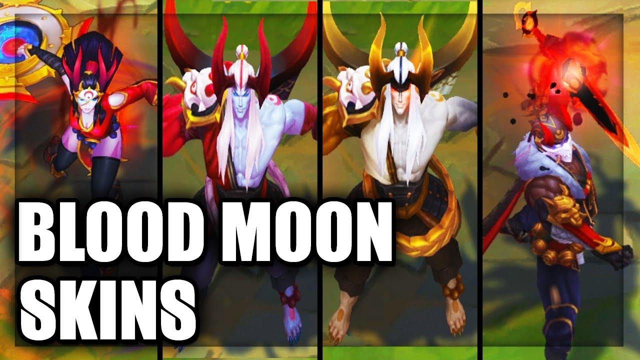 All New Blood Moon Skins Spotlight Pyke, Prestige Aatrox, Sivir (League of  Legends)