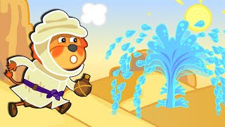 Lion Family Official Channel | Seeking for Water in the Desert | Cartoon for Kids