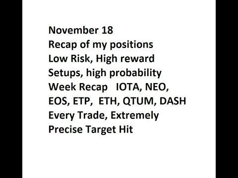 November18 Week Recap IOTA, NEO, EOS, ETP,  ETH, QTUM, DASH - All Transparent
