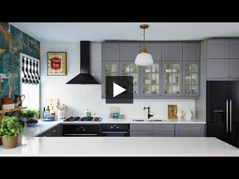 Interior Design — Dramatic, Boldly Decorated Family Ikea Kitchen Makeover