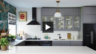 interior design — dramatic boldly decorated family ikea kitchen makeover