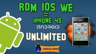 Review ROM IOS We | Similar a IPHONE 4(cuatro) | LG® Optimus L3
