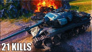 21 ФРАГ ЛИНИЯ ФРОНТА 🌟 World of Tanks Centurion Mk. 5/1 RAAC лучший бой