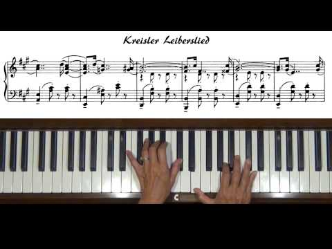 Fritz Kreisler Liebesleid Piano Solo Tutorial