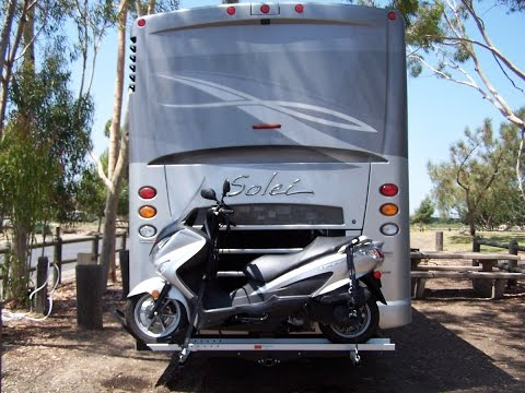Motorcycle carrier choices for RV's and motorhomes
