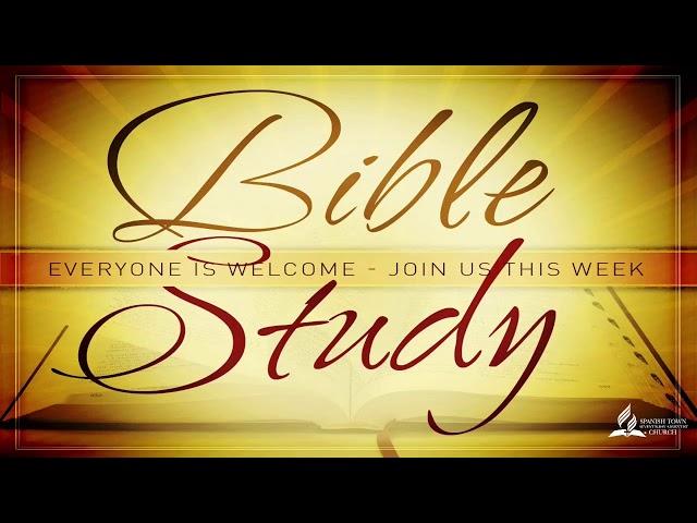 September 25, 2021 - Bible Class