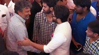 SS Rajamouli Shows Respect Towards Allu Arjun @ Director Krish Marriage | TFPC