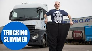 Fat trucker who has lost over TWENTY stone
