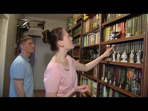 Домашняя библиотека: в квартире молодой семьи из Ханты-Мансийска хранятся сотни книг