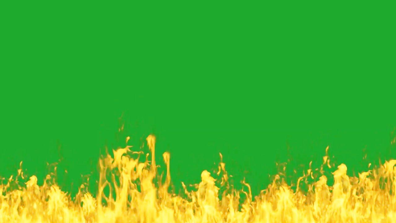 Green screen fire animation। Fire green screen Flame ...
