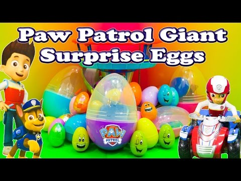 Thumbnail: PAW PATROL Nickelodeon Huge Surprise Eggs Funny Paw Patrol Surprise Egg Toys Video