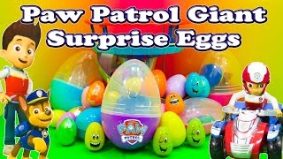 Opening Funny Paw Patrol Surprise Eggs with Chase and Rubble Toys thumbnail